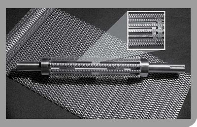 bandas y mallas metálicas rectas