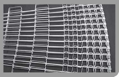 bandas y mallas metálicas curvas